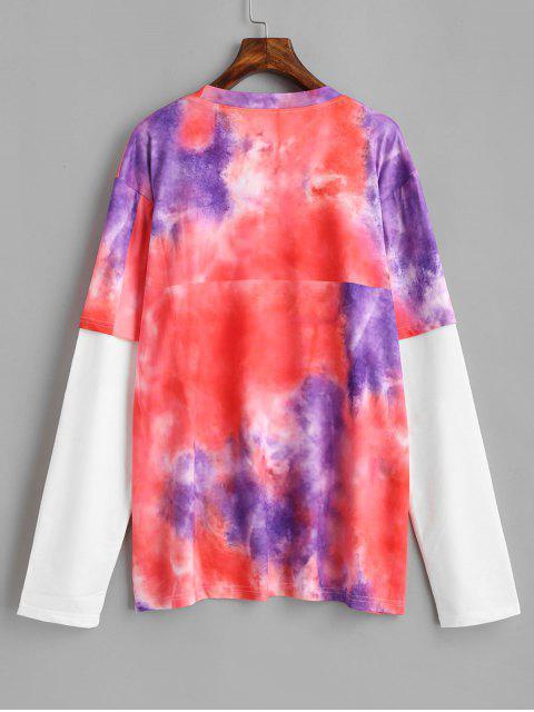 T-shirt Long Teinté Lettre - Multi Taille Unique Mobile