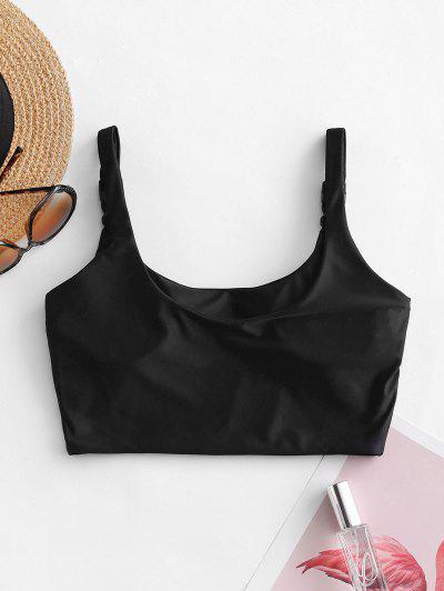 ZAFUL Push Buckle Pullover Bikini Top, Black