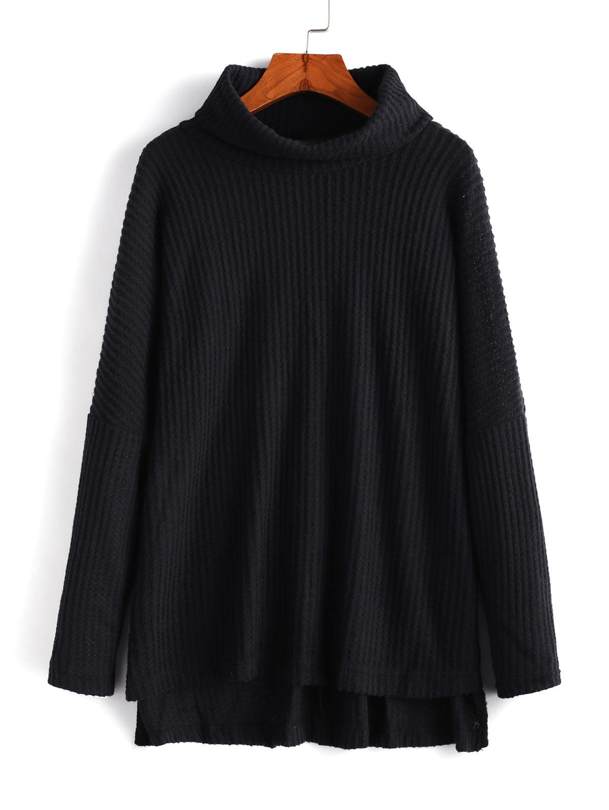 Cowl Neck High Low Sweater