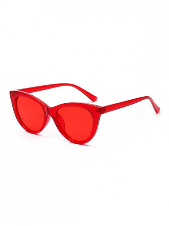 hot European Style Butterfly Vintage Sunglasses - LAVA RED