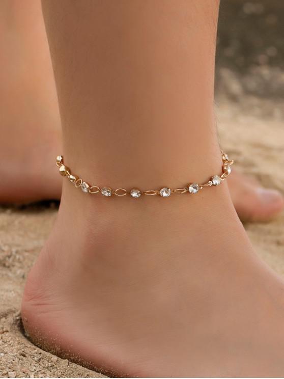 กำไลข้อเท้าโซ่กลมชายหาดบีช - ทอง