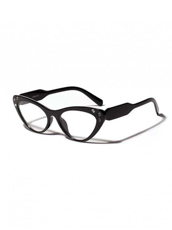Gafas de sol al aire libre de diamantes de imitación anti UV vintage - Negro