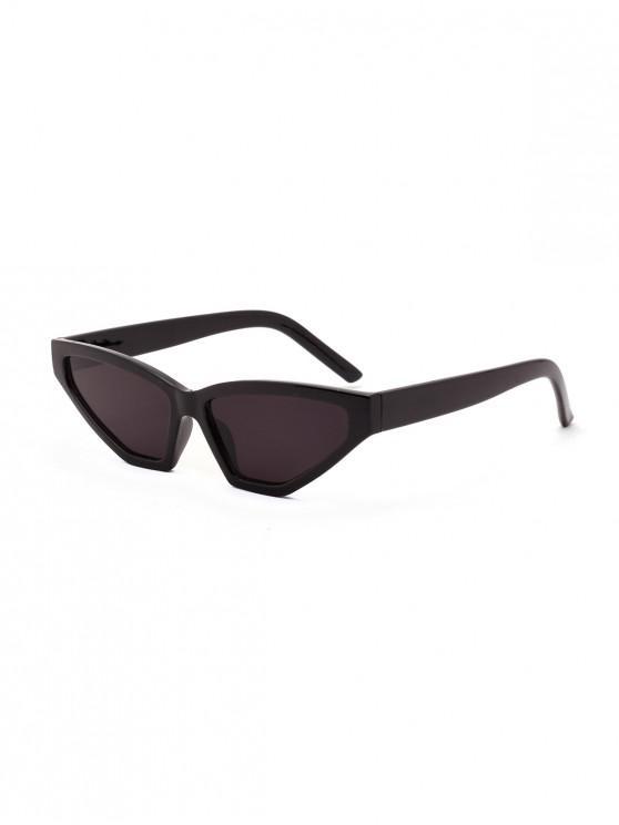 outfit Retro Irregular Kitty Eye Sunglasses - BLACK