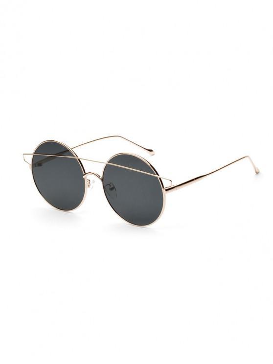 Breves gafas de sol redondas con barra de metal - Negro