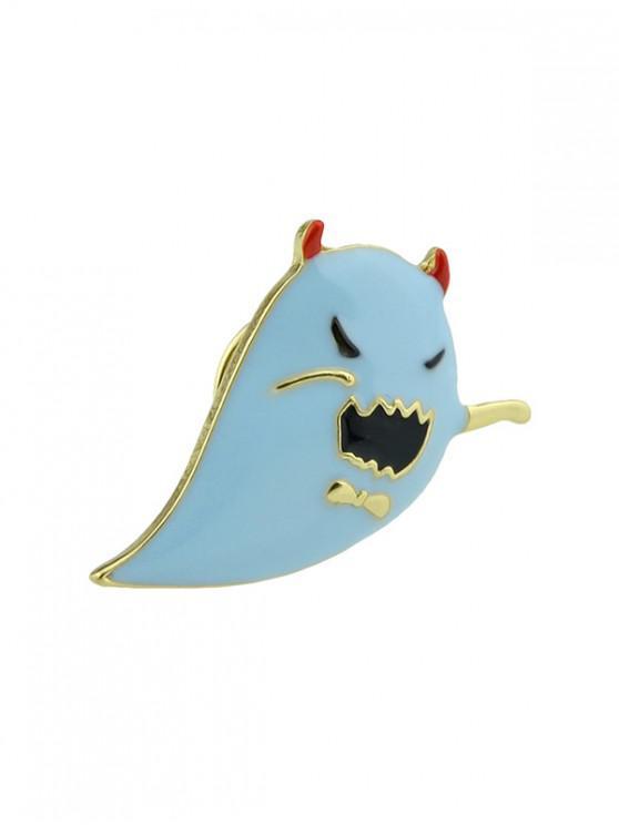 Diablo de Halloween Ghost Drop Glaze Broche - Coral Azul