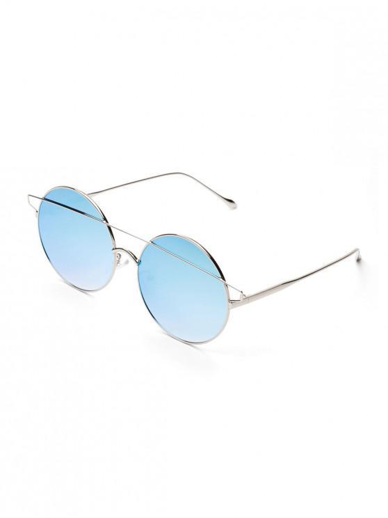 Короткие Круглые Солнцезащитные Очки С металлическим стержнем - Сиреневый синий