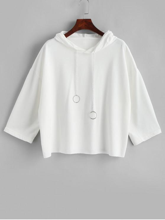 Cadenas tóricas con capucha del hombro en bruto cortada gota - Blanco XL