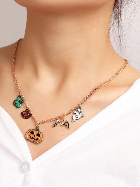 Collier d'Halloween à Chaîne Fantôme Citrouille Pendant - Multi-C  Mobile