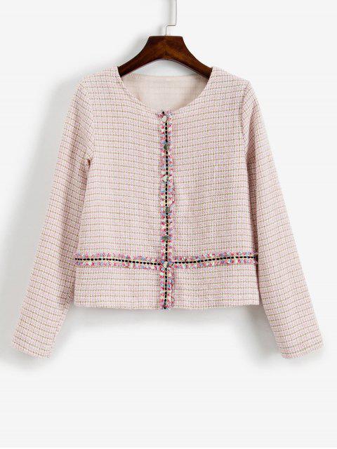 ZAFUL Veste en Tweed - Rose  L Mobile
