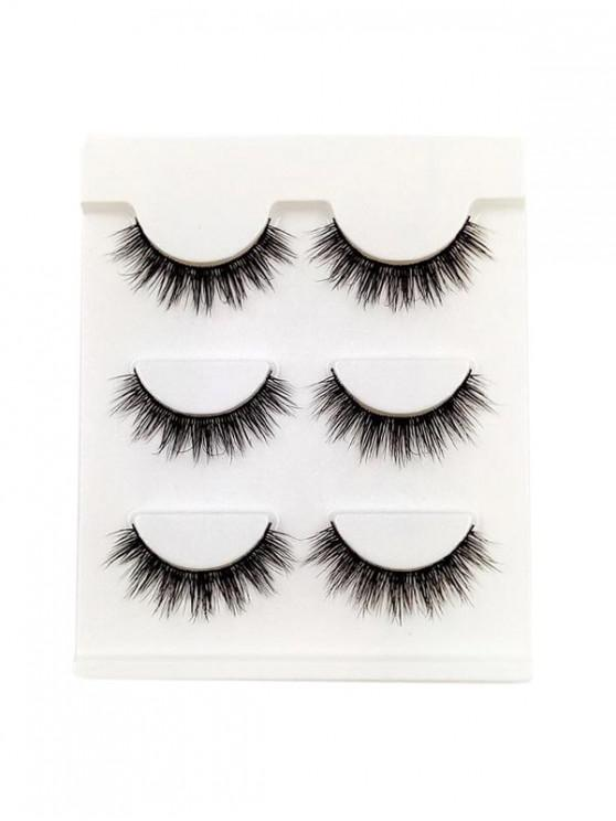 sale Eye Makeup False Eyelashes Set - BLACK