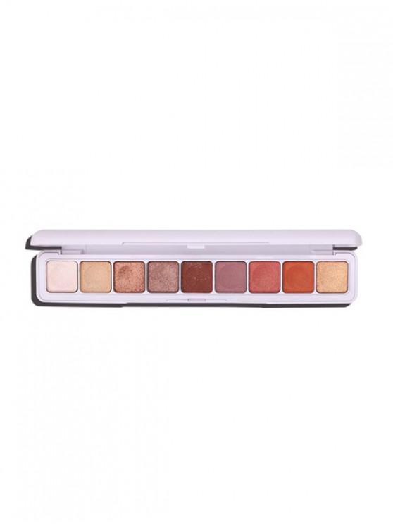بريق 9 ألوان ظلال العيون المدمجة - متعددة-A