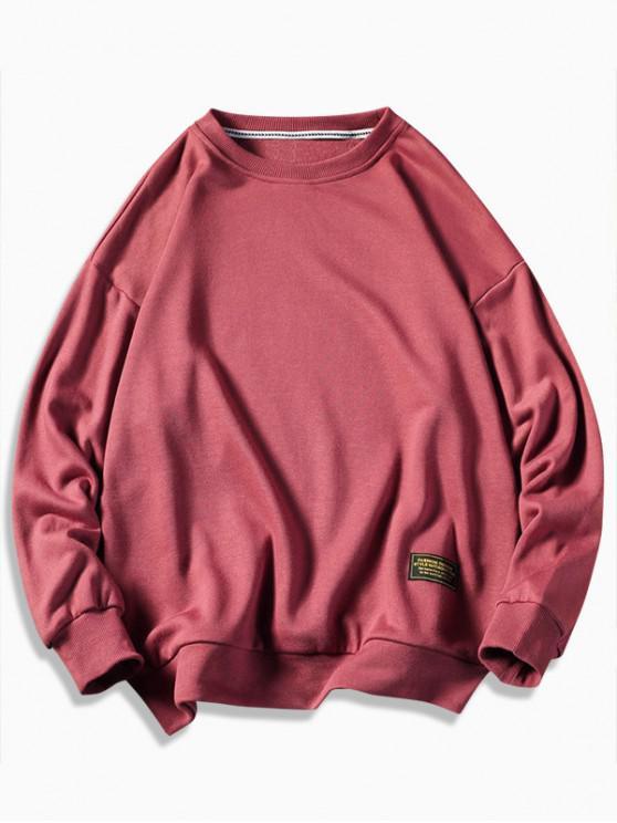 best Graphic Printed Casual Fuzzy Sweatshirt - CHESTNUT RED M