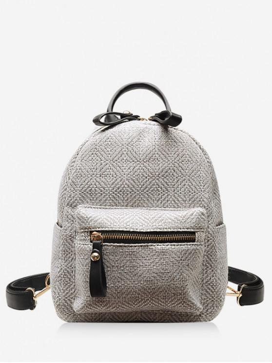 sale Casual Student Travel Cloth Fabric Backpack - WHITE