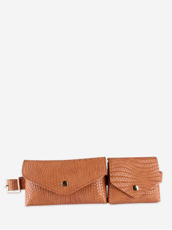 Doble Diseño La bolsa de correa del paquete de Fanny - Camel Marrón