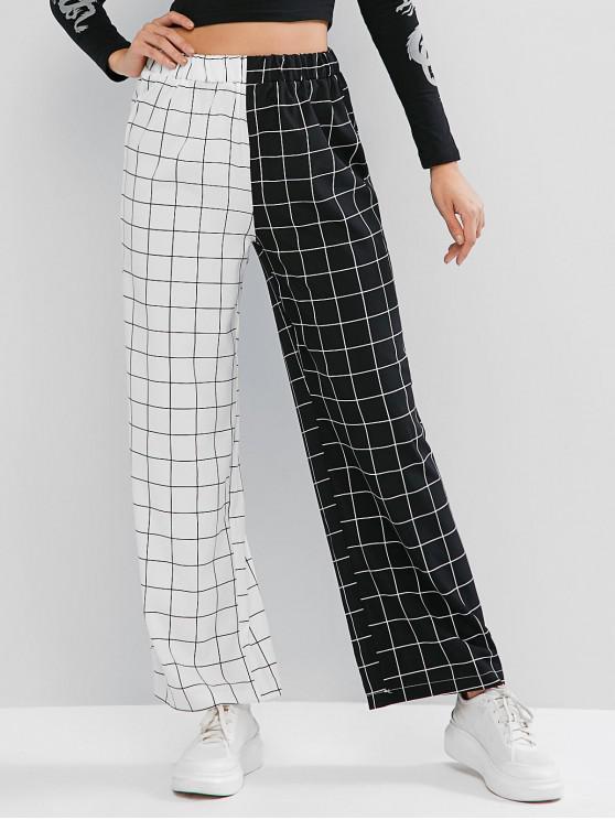 ladies Two Tone Checked Pants - MULTI XL