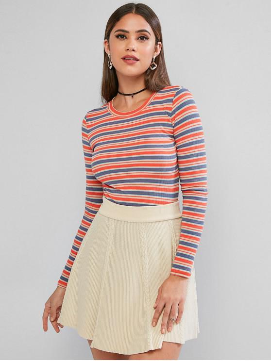 Raya de punto Camisa corta - Multicolor-B Talla única