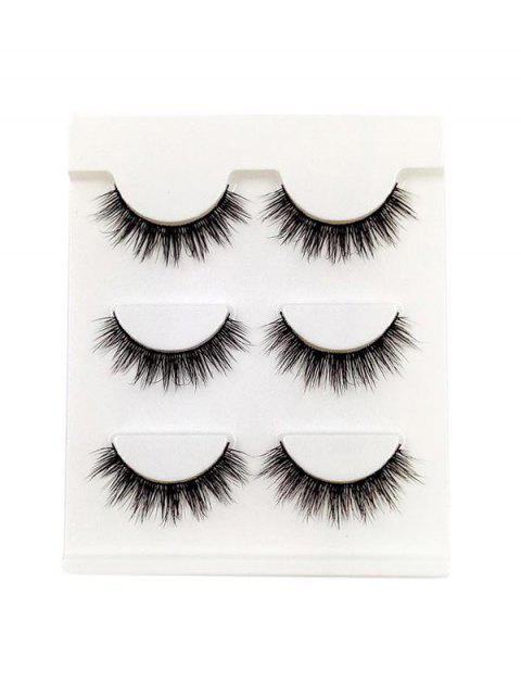 sale Eye Makeup False Eyelashes Set - BLACK  Mobile