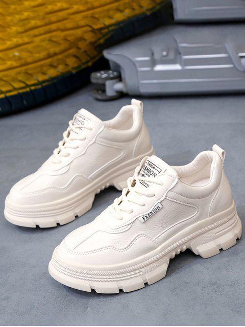 Обувь Из искусственной кожи На толстом каблуке - Абрикосовый ЕС 38 Mobile