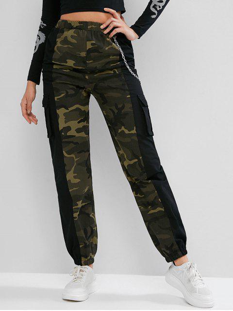 Pantalones jogger de bolsillo con cadenas de camuflaje ZAFUL - Multicolor-A S Mobile
