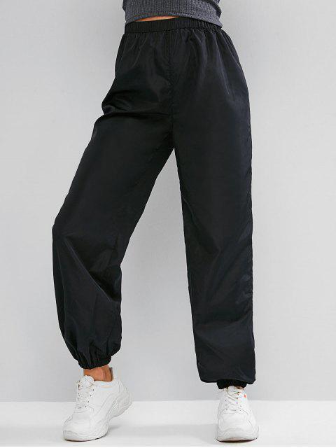 Pantalones de chándal casuales rompevientos de cintura alta ZAFUL - Negro L Mobile