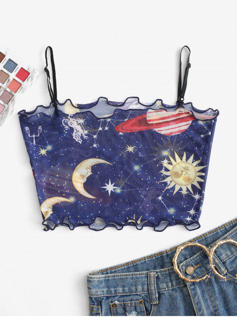 Cami Top Sol e da Lua Alface Guarnição - Azul Escuro M Mobile
