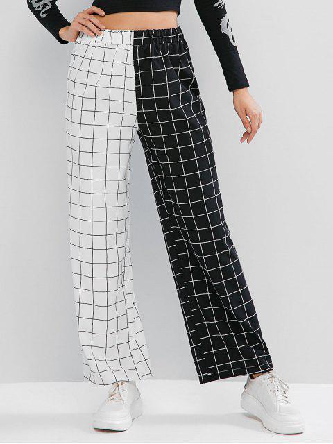 Dos pantalones de tonos Chequeado - Multicolor S Mobile