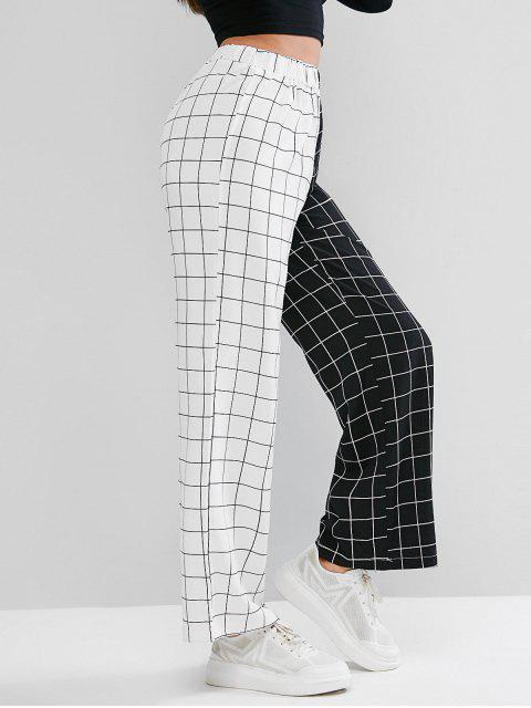 affordable Two Tone Checked Pants - MULTI L Mobile