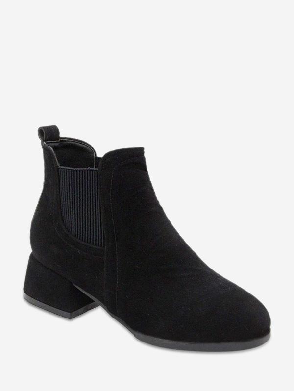 Low Block Heel Chelsea Short Boots