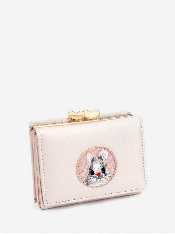 outfit Small Simple Cartoon Cartoon Rabbit Wallet - WARM WHITE