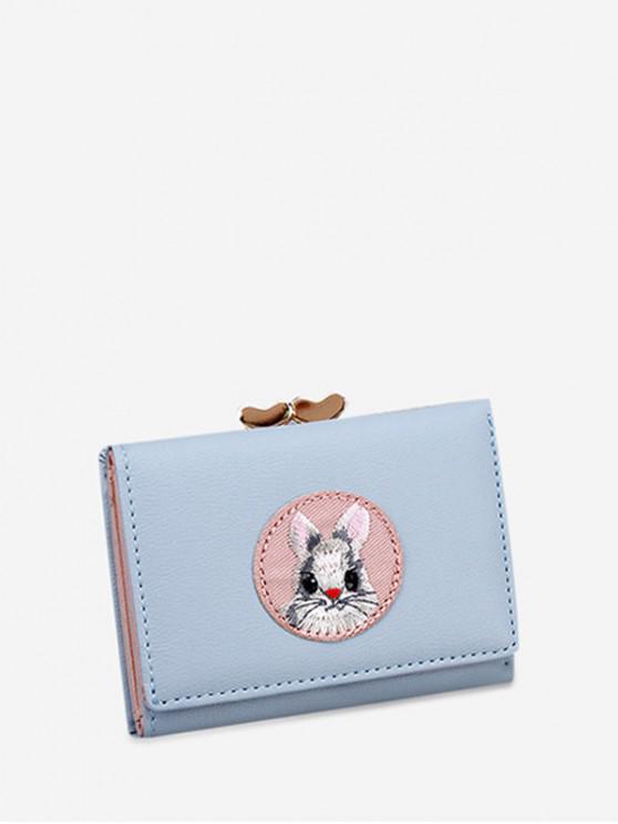 fancy Small Simple Cartoon Cartoon Rabbit Wallet - CRYSTAL BLUE