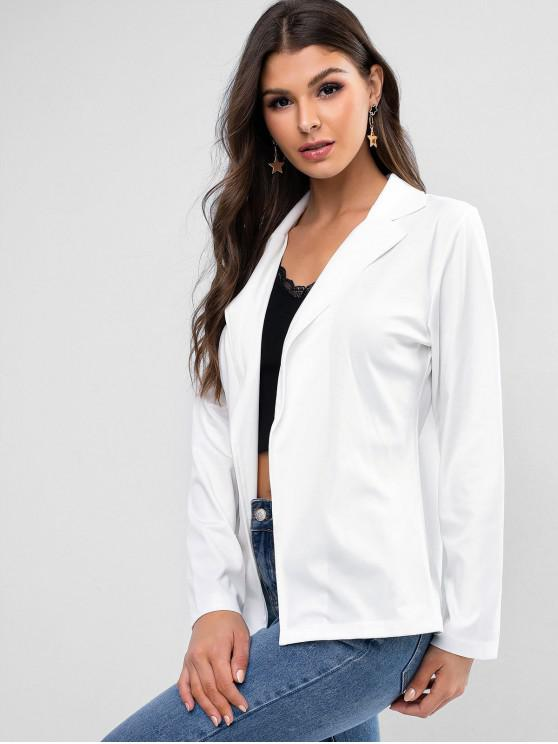 outfits Notch Lapel Open Front Work Blazer - WHITE XL