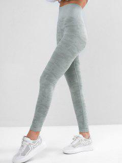 Camouflage High Waist Knitted Leggings - Multi-a M