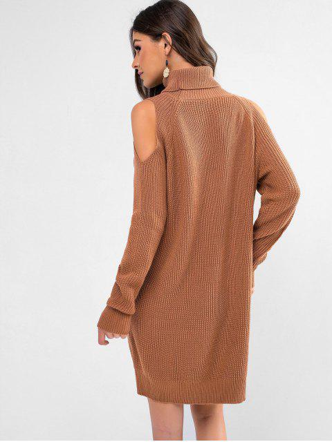 Robe Pull Manches Raglan à Col Roulé - Café S Mobile