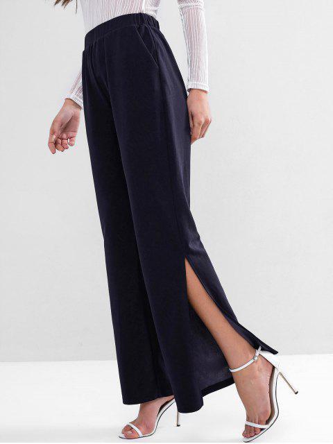 ZAFUL Pantalones anchos de cintura alta con bolsillo ancho - Azul Profundo S Mobile