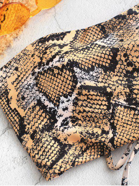 ZAFUL Maillot de Bain Tankini Bandeau Peau de Serpent - Multi-B S Mobile