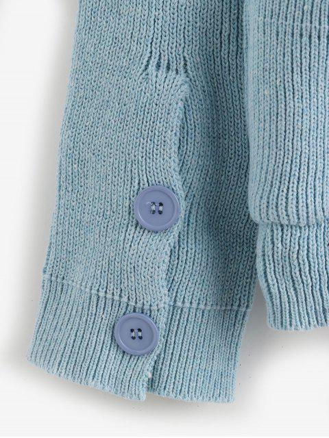 按鈕漲跌幅肩口袋外套 - 珊瑚藍 One Size Mobile
