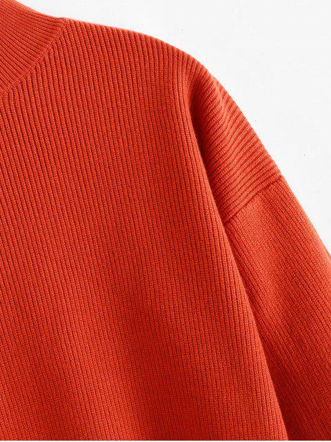落肩頸部模擬普通毛衣 - 橙子 One Size Mobile