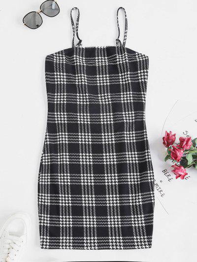 ZAFUL Houndstooth Print Mini Cami Dress - Multi-a S
