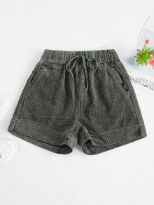 سروال قصير جيب السروال الرباط - الجيش الأخضر M