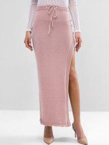 Slit Maxi Knit Skirt
