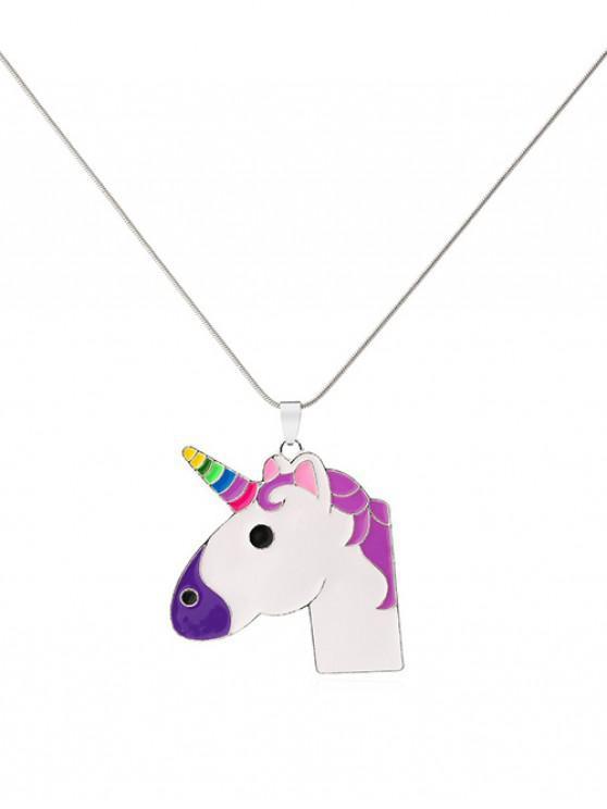 shop Unicorn Pendant Necklace - SILVER