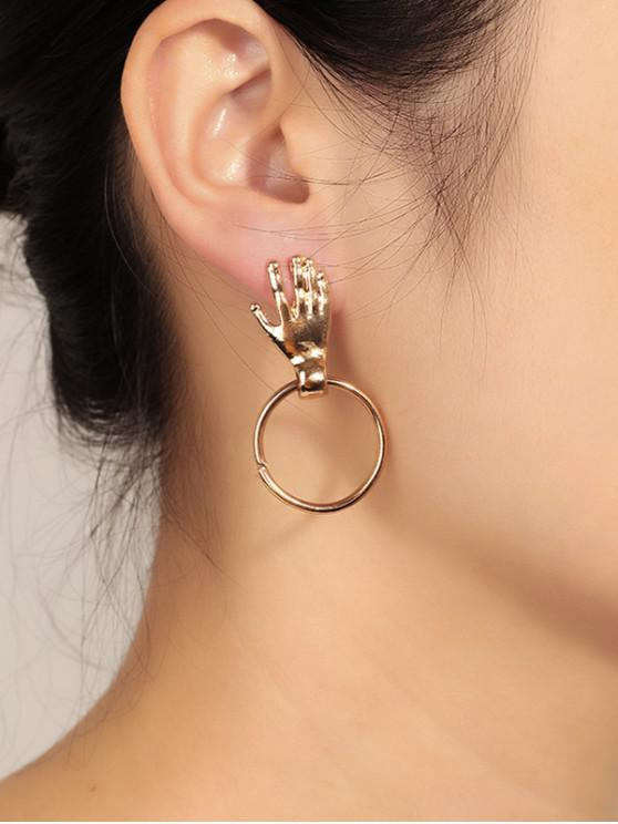 outfits Hand Circle Earrings - GOLD