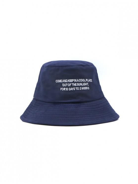 chic Solid Casual Character Pattern Bucket Hat - CADETBLUE