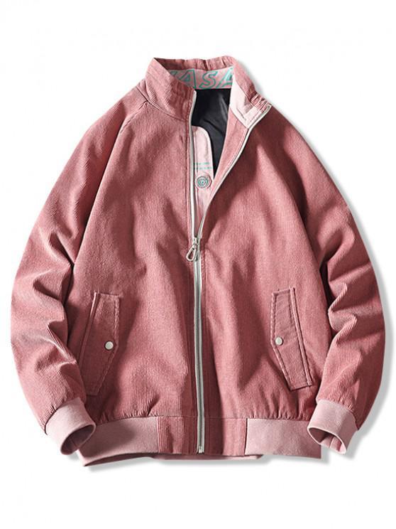 new Letter Print Splicing Raglan Sleeve Jacket - RED 5XL