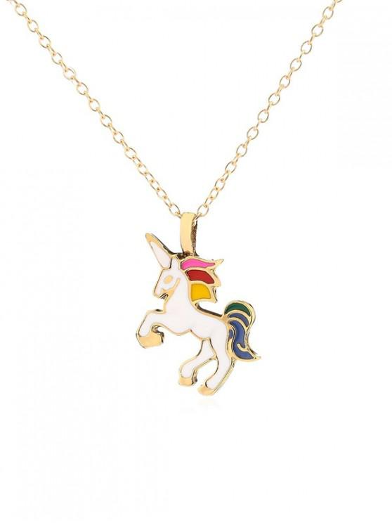 hot Fly Unicorn Pendant Necklace - WHITE