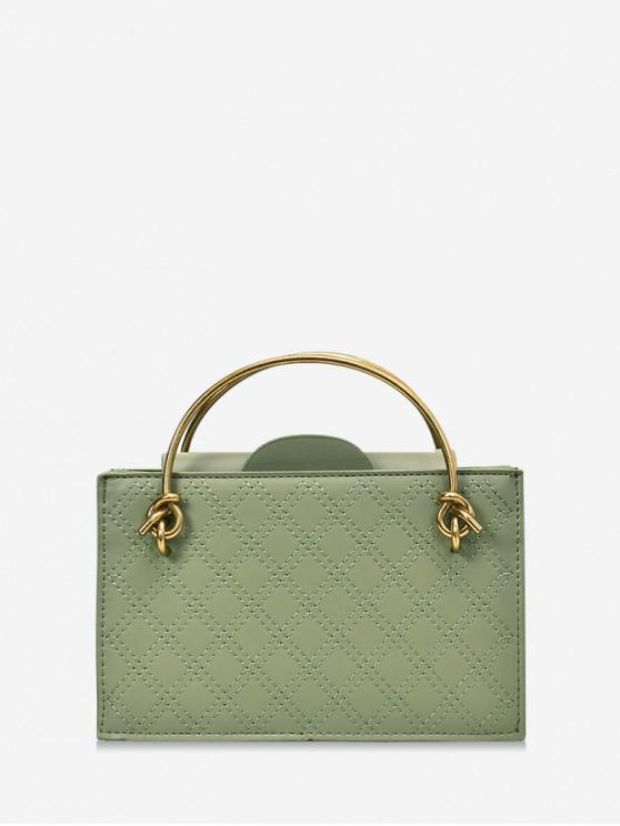 buy Casual Solid Square Chain Shoulder Bag - GREEN