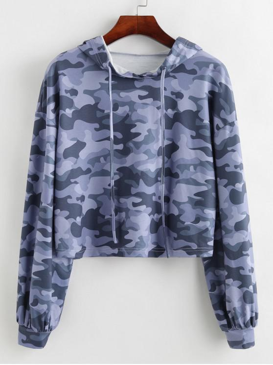 new ZAFUL Camo Cropped Hoodie - MULTI-A M