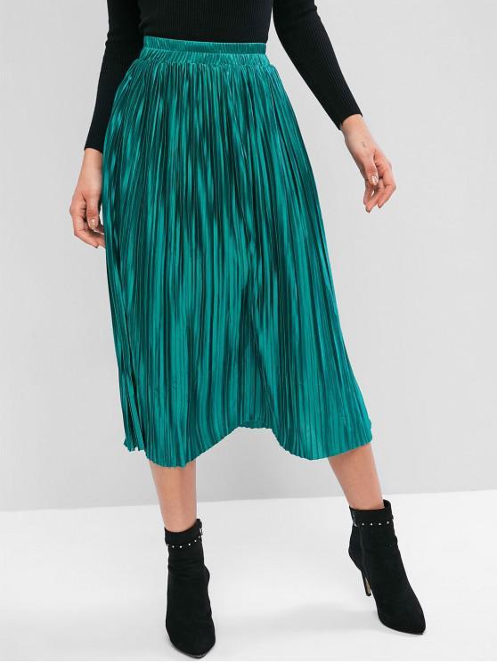Brillante falda plisada - Verde Talla única
