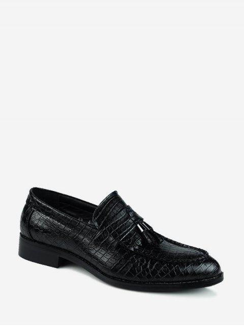 Узор животных С острым носком Без шнуровки Деловая Обувь - Чёрный ЕС 39 Mobile