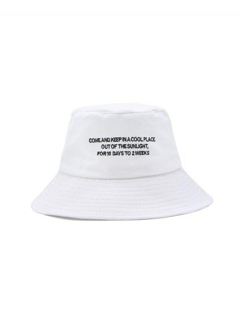 ladies Solid Casual Character Pattern Bucket Hat - WHITE  Mobile